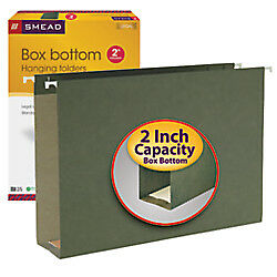 Smead Legal size 2 Expansion Hanging Box bottom File Folders 25 pk