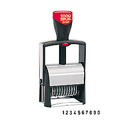 Cosco 2000 Plus Black Self inking Numbering Stamp With 10 number Bands