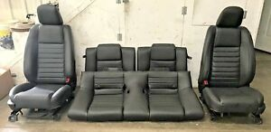 2007 2009 Ford Mustang Shelby Gt500 Front Rear Black Leather Seats Oem