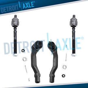 4pc Front Inner Outer Tie Rod End Links For 1996 1998 1999 2000 Honda Civic