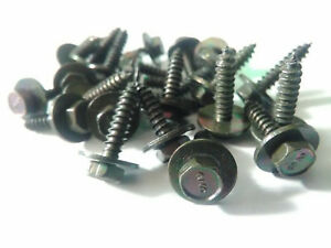 25x Nos Black Trim Screws 7mm X 18m X 12mm Flange Gm Ford Amc Jeep Chrysler
