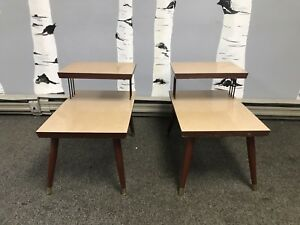 Two Mid Century End Tables