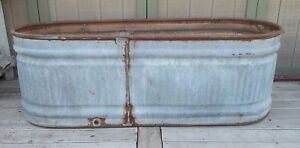 Water Tank Trough Vintage Galvanized Livestock Fs Feed 70 l Kitchen Island bar