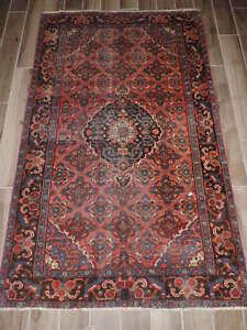 Antique Handmade Persian Bijar Wool Rug 4x7ft