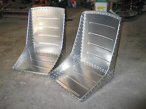 A Beautiful Pair 2 Of Wwii Style Aircraft Bomber Seats Over 150 Solid Rivets