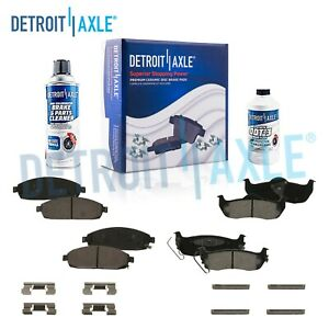 Front Rear Ceramic Brake Pads For 2005 2008 2009 2010 Commander Grand Cherokee