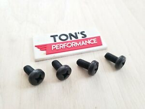 Black Oem Replacement Bmw Luxury Auto License Plate Screws Stainless Steel Bolts