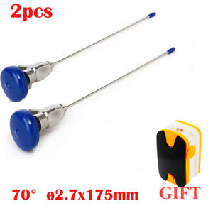 2x Endoscope 2 7x175mm Arthroscope sinuscope Connector Fit Storz wolf oximeter