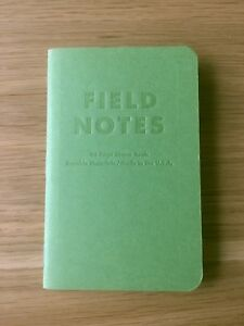 Field Notes Grass Stain Green single Notebook