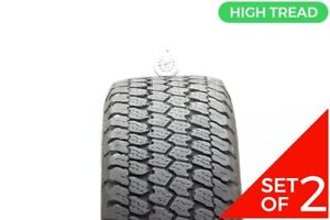Set Of 2 Used 265 70r17 Goodyear Wrangler At S 113s 10 32