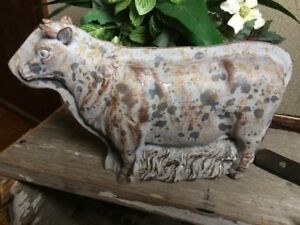 Antique Tin Style Cow Rustic Distressed Resin Chocolate Mold Farmhouse Decor