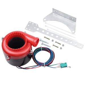 Red Black Car Fake Electronic Turbo Blowoff Blow Off Valve Bov Analog Sound For