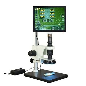 Omax Zoom 7x 112 5x Industrial Inspection 5mp Touchpad Microscope 144 Led Light