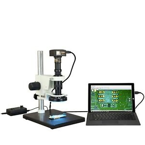 Omax Zoom 7x 112 5x Industrial Inspection 10mp Usb 3 0 Microscope 144 Led Light