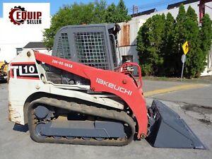 2014 Takeuchi Tl10 Skid Steer Loader Enclosed Cab Auxiliary Hydraulics