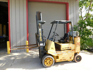 Hyster Lp Gas Propane Forklift S80 8000 Capacity 42 Forks 2 Stage