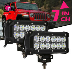 2x 7 Inch 36w Led Work Light Bar Flood Offroad Atv Suv Fog Truck Lamp 4wd 12v 6