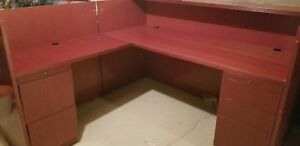 Receptionist Desk L Shape Great Condition