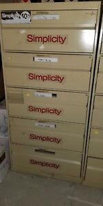 5 Drawer Simplicity Sewing Pattern Filing Cabinets Multiple Uses