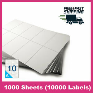 10000 Labels 2 X 4 Shipping Mailing Barcode Blank Label Seft Adhesive Stickers