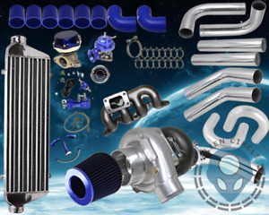 Honda Civic 2001 2005 D7 1 7 T3 t4 Turbo Kit Piping Exhaust Manfold Blue