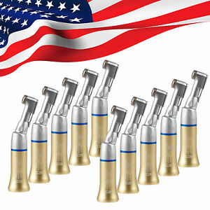 10x Dental Slow Low Speed Contra Angle Handpiece Latch Fit E type Motor Gold ol