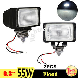2x 6 3 6000k Xenon Hid Work Light 55w Flood Offroad Atv 4wd Truck Fog 12v 24v