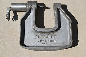 Greenlee 1732 C frame Hydraulic Knockout Punch 1 1903