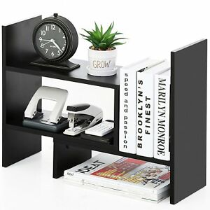 Bookshelf Desktop Organizer File Supplies Office Furniture Storage Shelf Adjust