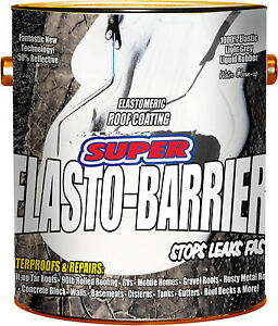 Super Elasto Barrier Rubber Roof deck Coating Gray 1 gal