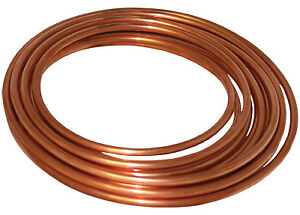 Type K Soft Copper Tubing 1 2 inch Id X 60 ft