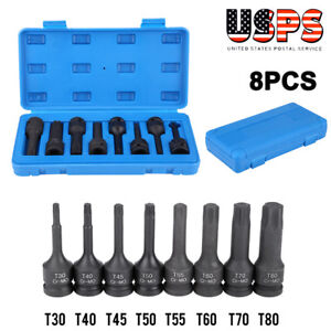 1 2 Drive Impact Socket Hex Bits 8pc Metric Set Long Air Allen Driver Us