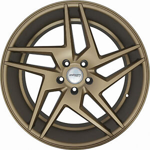 4 Wheels 20 Inch Staggered Bronze Razor Rims Fits Ford Mustang Gt W Perf Pkg