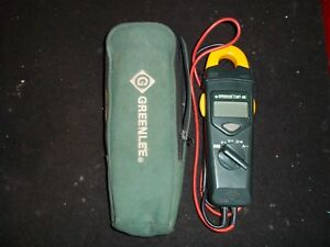 Greenlee Clamp on Meter Model Cmt 60 With Case