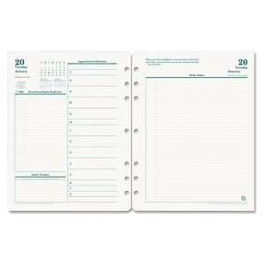 Franklin Covey Original Dated Daily Planner Refill January december 8 1 2 X 11