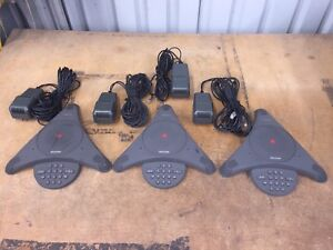 Three Polycom Soundstation Analog Conference Phones