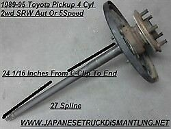 1989 95 Toyota Pickup Right Rear Axle Shaft 2wd 22re 1 2 Ton Passenger Side