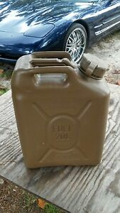 New Military 5 Gallon Scepter Fuel Can Jerry Can oil Diesel Fuel 20 Liter Humvee