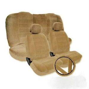 Toyota Camry Beige Tan Seat Covers 2 Front Low Back Bucket Seat Covers W