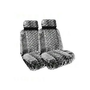 A Set Of 2 Universal Fit Low Back Swirl Pattern Front Bucket Seat Cover A Se