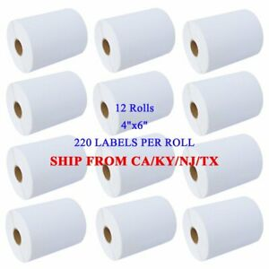 12 Rolls Dymo 4xl Direct Thermal Shipping Mailing Labels 4x6 1744907 Compatible