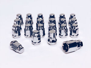 12x1 25 Chrome Lug Nut Wheel Lock Combo Scion Frs Brz Wrx Sti Legacy Impreza