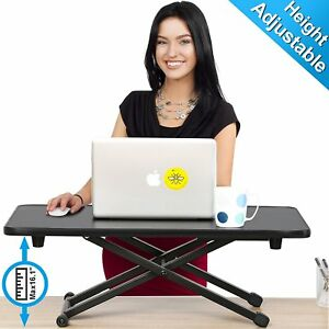 Computer Desk Standing Height Adjustable Monitor Stand Laptop Riser Hard Table