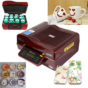 3d Vacuum Heat Press Machine Transfer Sublimation Printing Phone Case Plate Mugs