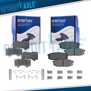 Front And Rear Ceramic Brake Pads For Lx570 Toyota Land Cruiser Sequoia Tundra