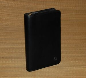 Pocket Franklin Covey Black Planner Binder Nappa Leather Zip 75 Gold Rings