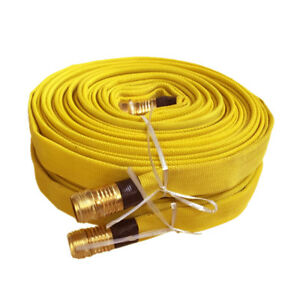 Pack Of 2 Fire Hose 3 4in x 50 Ft Yellow 250 Psi