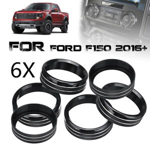 Black For Ford F150 2016 18 Air Conditioner Audio Switch Decor Ring Cover Trim