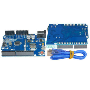 Latest Version Arduino Uno R3 Atmega328p 16au Ch340g Board Micro Usb Cable
