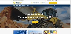 Construction Business Website 100 Turn Key Ready High Rated Seller